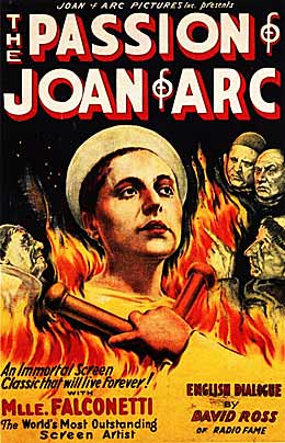 passion of joan of arc movie poster