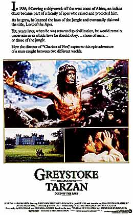 greystoke legend of tarzan king of apes movie poster 1984