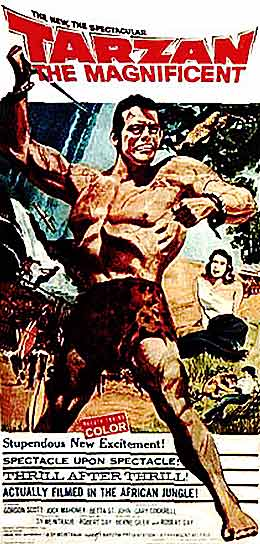 tarzan the magnificent 1960 movie poster