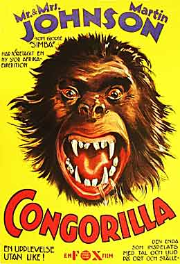 Congorilla Swedish movie poster