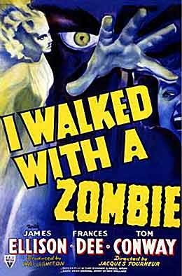 I Walked with a Zombie movie poster