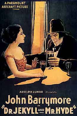 John Barrymore as Dr. Jekyll & Mr. Hyde 1920 movie poster
