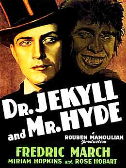 Fredric March as Dr. Jekyll & Mr. Hyde 1931 movie poster