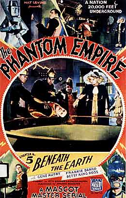 Gene Autry in The Phantom Empire serial movie poster